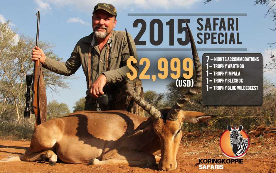 Koringkoppie Safaris 2015 Safari Special